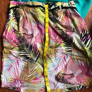H&M Multi Color Tropical Print Skirt